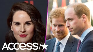 Michelle Dockery Picks 'Favorites' Prince William And Prince Harry As Dream 'Downton Abbey' Cameo
