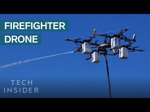 Drone Could Help Firefighters By Putting Out Fires