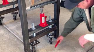 Custom Welding Table with retractable casters