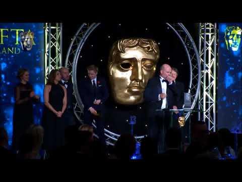 Jack Lowden w/ Jason Connery: Tommy's Honour winning Best Movie on Bafta Scotland 2016