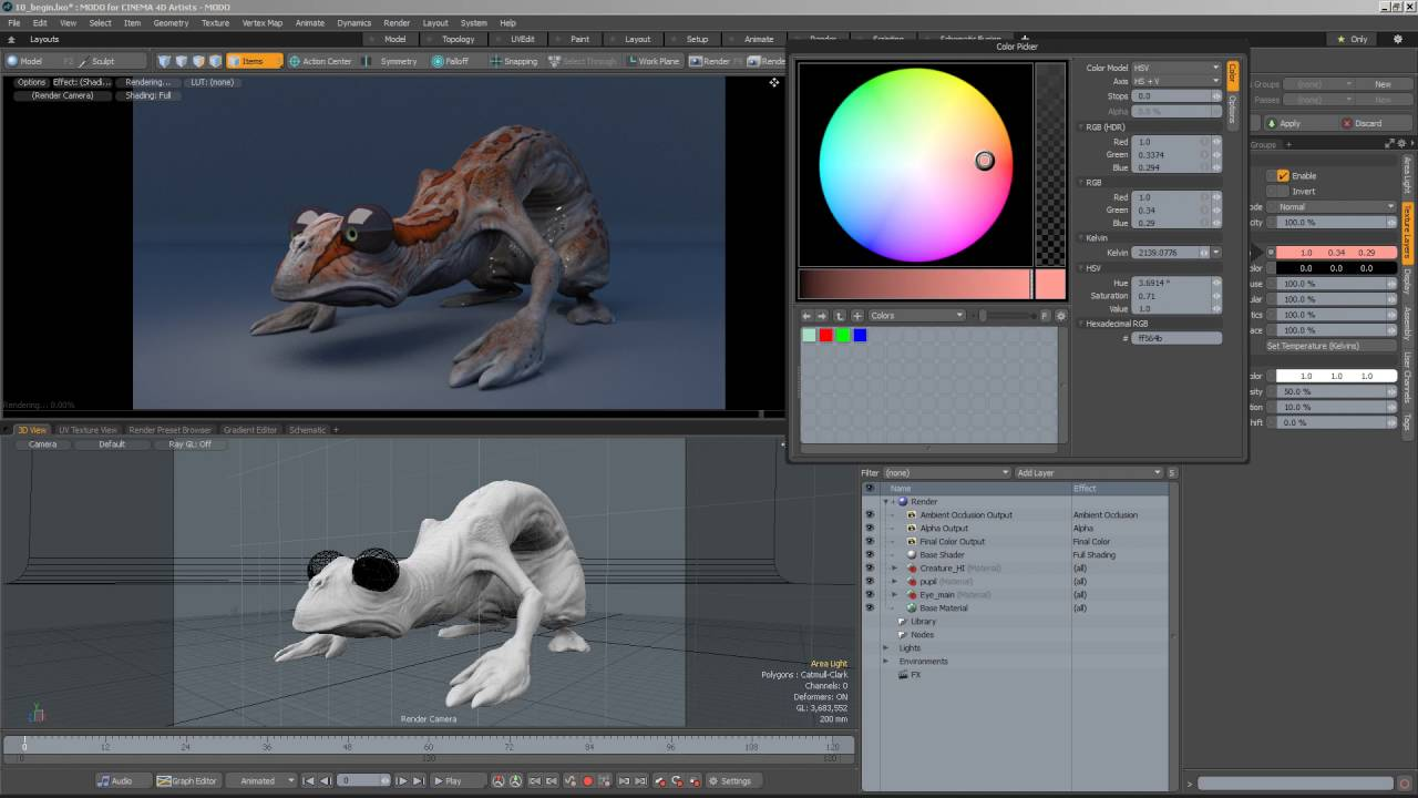 Modo | Cinema 4D Tutorial: Using the Preview Viewport