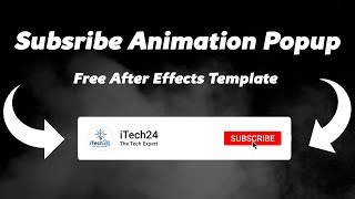 How To Make Subscribe Animation Popup For YouTube Free After Effects Template