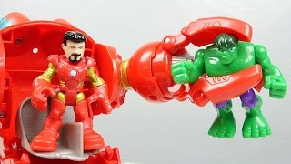 Playskool Heroes Marvel Super Hero Adventures Stark Tech Armor Hulk Iron Man Avengers Toys