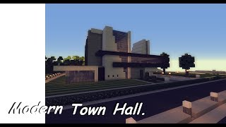 minecraft hall town modern wok server