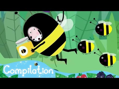 Ben and Holly's Little Kingdom - Bee and Honey - Compilation  - HD Cartoons for Kids - Познавательные и прикольные видеоролики