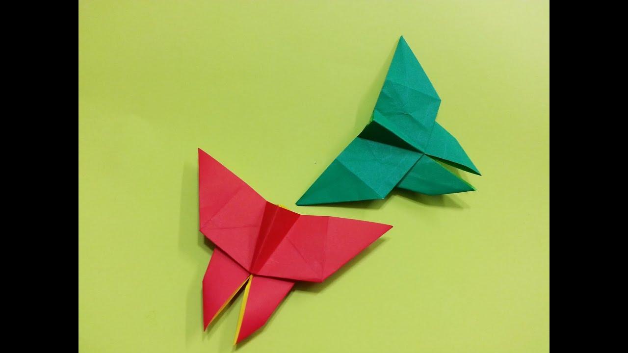 나비종이접기 How To Make an Origami Butterfly Easy - YouTube - photo#24