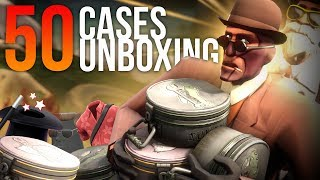50 Cases Unboxing - Jungle Inferno [TF2]