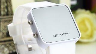 Светодиодные часы (Led Watch) с силиконовым ремешком с AliExpress (распаковка/обзор)