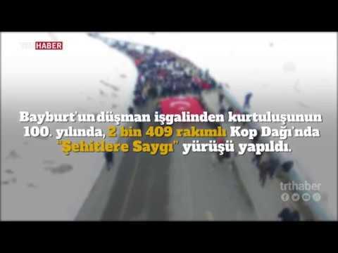 Bayburtlular Kop Dağı'nda 'Şehitlere Saygı Yürüyüşü' gerçekleştirdi.