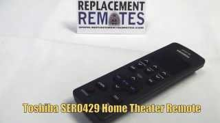 TOSHIBA SER0429 Home Theater System Remote PN: AH701014 - www.ReplacementRemotes.com