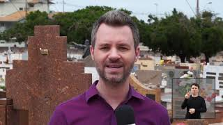 Vereadores em Ação - Rafael de Angeli verifica vandalismo no cemitério