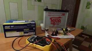 как зарядить аккумулятор автомобиля +тест  и обзор зарядного устройства(В этом видео я хочу подробно описать процесс зарядки аккумулятора и опробовать новое зарядное устройство..., 2015-01-26T17:51:33.000Z)