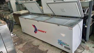 Bán tủ đông cũ sanaky VH1199HY3 inverter Tiết kiệm điện. 3 cửa. thanh lý tủ đông 1000 lít giá rẻ HCM