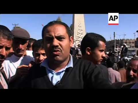 Anti-government protest at University in Sana'a