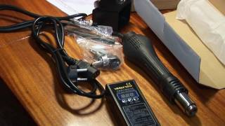 Hot Air Rework Station Yihua 8858 and Soldering Paste: Unboxing and Testing