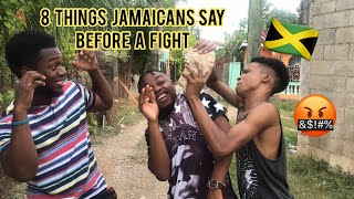8 Things Jamaicans Say Or Do Before A Fight