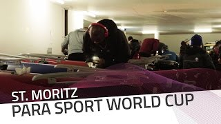 St. Moritz | The equipment setup in a World Cup race | IBSF Para-sport Official