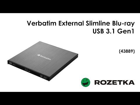 Verbatim External Slimline Blu-ray USB 3.1 Gen1 с разъемом USB Type-C (43889)