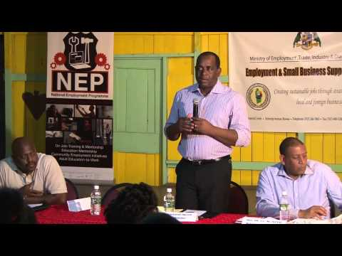 Roosevelt Skerrit in Trafalgar promoting NEP
