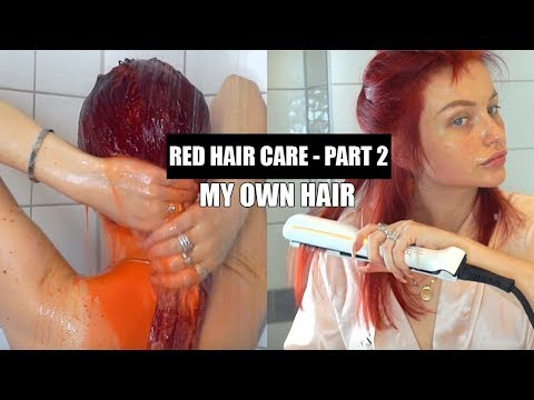 RED HAIR CARE PART 2: My Own HAIR ROUTINE + Tools, Styling