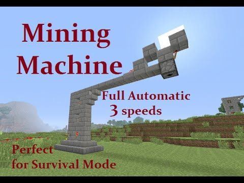 Minecraft Tutorial : Automatic Mining Machine