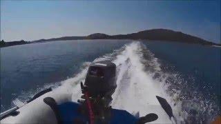 Zodiac 310 SR RIB & Tohatsu 9.9 at top speed on Adriatic coast