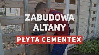 Zabudowa altany płytą cementową Cementex