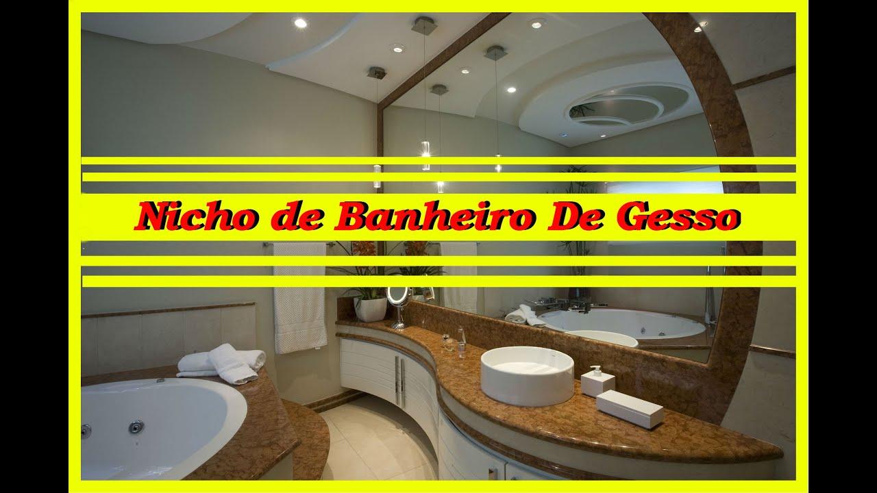Nicho de banheiro de gesso  YouTube -> Nicho De Banheiro De Gesso