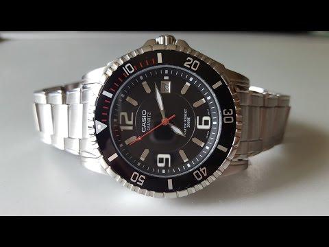 Дайверские часы с вращающимся безелем CASIO MTD-1053D-1AVEF. Diver's Watch With Bezel