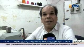وهران : محمد ... أيادي تبدع في تفليف مقاعد السيارات