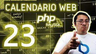 Calendario web con PHP y MySQL utilizando fullcalendar (Video 23.- Ajustes finales)