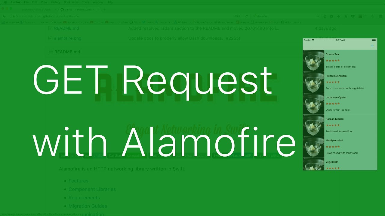 41-Alamofire#2 Send GET request and receive response JSON fetched to  UITableView
