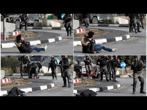أربعة قتلى وثلاثمائة جريح في صفوف المتظاهرين الفلسطينيين في يوم الغضب…  - 18:21-2017 / 12 / 15