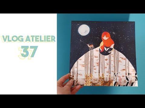 VLOG Atelier 37 : Astuce Scanner De Grandes Illus + Démo + Inktober