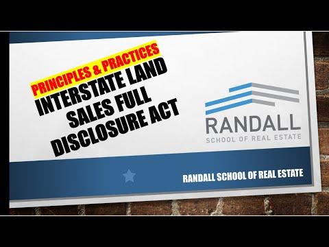 Interstate Land Sales Full Disclosure Act | Nebraska Real Estate Exam