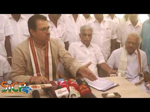 Maharashtra MLC Sanjay Dutt Press meet at Karaikudi