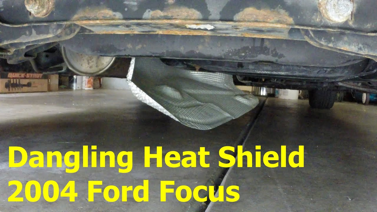 dangling heat shield repair 2004 ford focus youtube 2006 ford taurus fuel system diagram