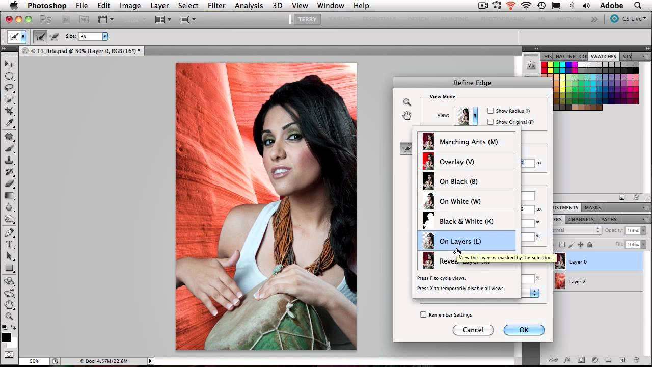 How To Remove An Image From The Background In Photoshop Cs5 Youtube