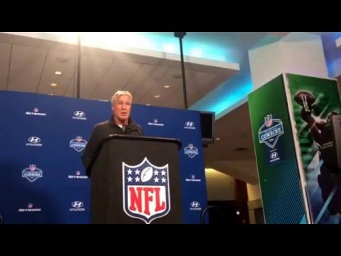 Pete Carroll NFL Combine Interview Seattle Seahawks Coach On Wide Receivers #NFLCombine