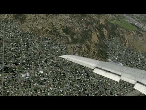 fsx sydney to NY 707-320 part 2...land in L.A (heavy winds)