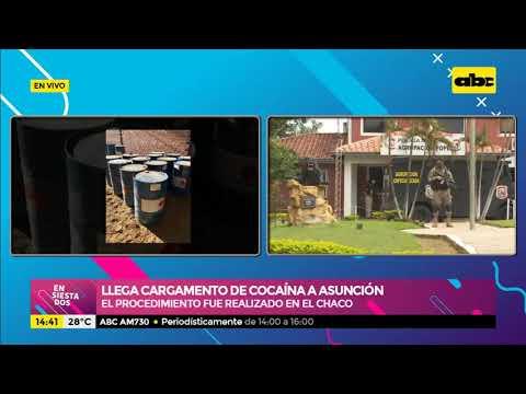 Llega cargamento de cocaína a Asunción