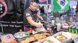 Video London Street Food, Korean Fried Chicken and Bulgogi, Japanese Teriyaki Burger & Street Music download MP3, 3GP, MP4, WEBM, AVI, FLV September 2017