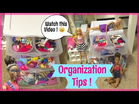 EASY Barbie Organization Tips !! How I Organize My Barbie Clothes And Accessories