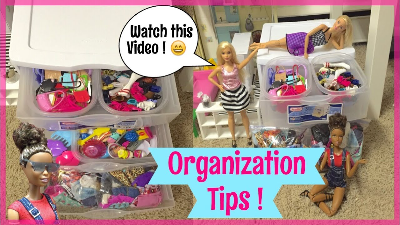 EASY Barbie Organization Tips How I Organize My Barbie Clothes - Barbie doll storage ideas