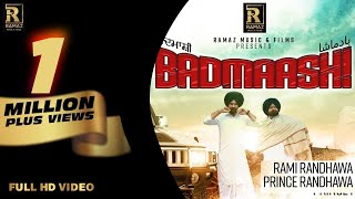 Badmaashi Prince Randhawa Rami Randhawa Free MP3 Song Download 320 Kbps
