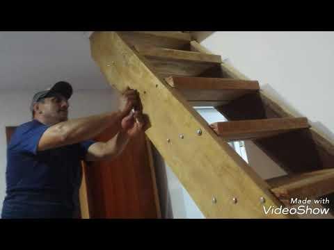 Escada Madeira Cambará pesando mais de 200 Quilos