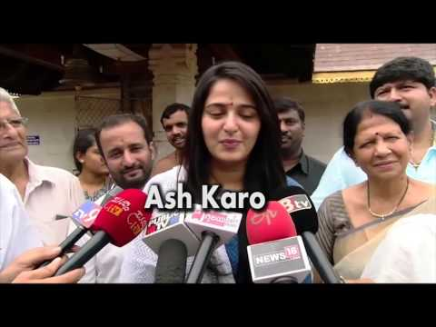 Anushka Shetty Visited Mangalore Temple & Speaking In Kannada
