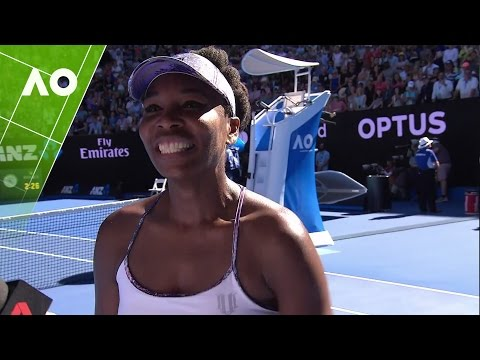 Venus Williams on court interview (SF) | Australian Open 2017