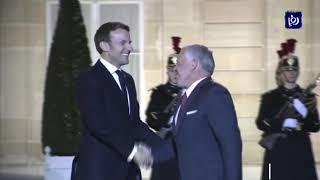 الملك وماكرون يبحثان المستجدات الراهنة اقليميا ودوليا (16/1/2020)