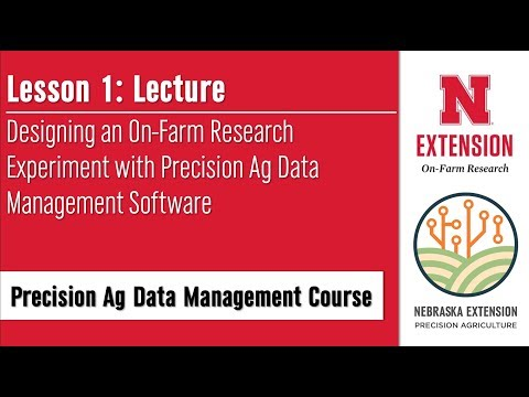 Precision Ag Data Management Course   Lesson 1 Lecture